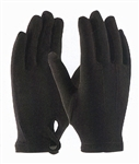 PALLBEARER GLOVES-BLACK NYLON WITH SNAP