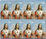 "PRAYER CARDS BY BONELLA ""SACRED HEART"" MICRO PERFORATED"