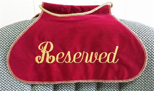 Embroidered Reserved Seat Sign