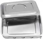 INSTRUMENT TRAY WITH RECESSED HANDLE COVER