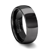 Black Tungsten Wedding Band