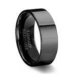Polished Black Tungsten Ring