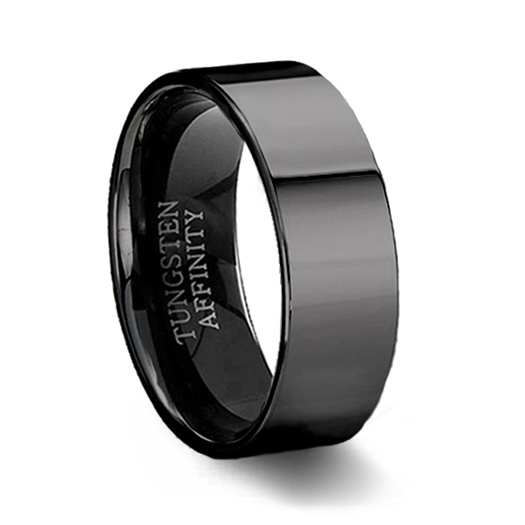 polished black tungsten ring black pipe cut wedding ring. Black Bedroom Furniture Sets. Home Design Ideas