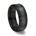 Black Ceramic Ring & Black Carbon Fiber Inlay