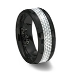 Black Ceramic Ring & White Carbon Fiber Inlay