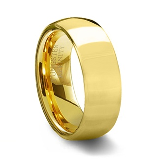 Gold Plated Tungsten Carbide Wedding Ring Band