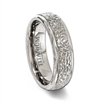 Titanium Hammered Finish Ring