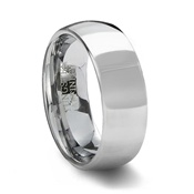 Polished Tungsten Carbide Wedding Ring Band