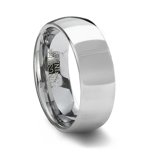 0fe86b358c97 Polished Tungsten Carbide Wedding Ring Band