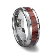 wood inlay tungsten wedding ring - Mens Tungsten Wedding Rings