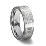 Tungsten Carbide Celtic Wedding Ring