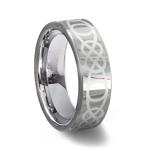 Tungsten carbide celtic wedding ring tungsten affinity for Tungsten celtic wedding ring