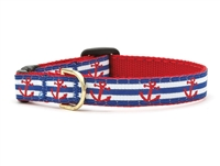 Unique Cat Collar Sailor & Anchors SaltyPaws.com