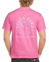 Salty Paws Classic Human Tee Shirt Unisex, Clothing for Dog and Cat Lovers at www.saltypaws.com