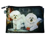 Bichon Frise Zippered Coin Purse