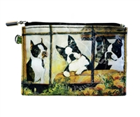 Boston Terrier Zippered Coin Purse