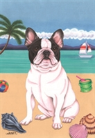 French Bulldog on the Beach Flag SaltyPaws.com