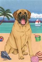 Mastiff on the Beach Flag SaltyPaws.com