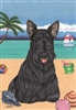 Scottish Terrier on the Beach Flag SaltyPaws.com