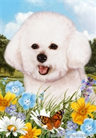 Bichon Small Decorative Garden Flag