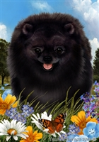 Pomeranian Small Decorative Garden Flag