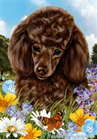 Poodle Small Decorative Garden Flag