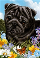 Pug Small Decorative Garden Flag