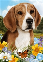 Beagle Small Decorative Garden Flag