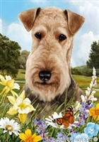 Airedale Terrier Small Decorative Garden Flag