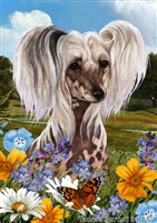 Chinese Crested Dog Small Decorative Garden Flag