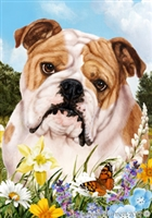 Bulldog Small Decorative Garden Flag
