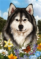 Alaskan Malamute Small Decorative Garden Flag