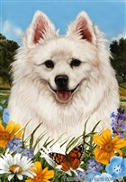 American Eskimo Small Decorative Garden Flag