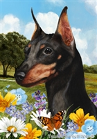 Miniature Pinscher Small Decorative Garden Flag