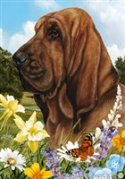 Bloodhound Small Decorative Garden Flag
