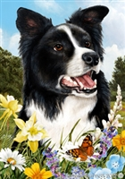 Border Collie Small Decorative Garden Flag