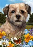 Border Terrier Small Decorative Garden Flag