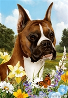 Boxer Small Decorative Garden Flag