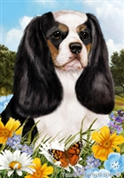 Cavalier King Charles Spaniel Small Decorative Garden Flag