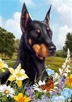 Doberman Pinscher Small Decorative Garden Flag