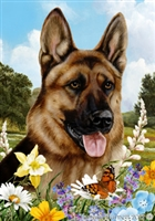 German Shepherd Small Decorative Garden Flag