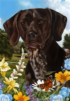 German Shorthaired Pointer Small Decorative Garden Flag
