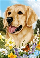 Golden Retriever Small Decorative Garden Flag