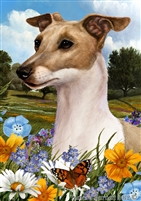 Italian Greyhound Small Decorative Garden Flag