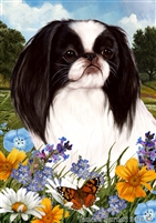 Japanese Chin Small Decorative Garden Flag
