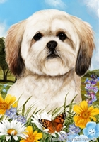 Lhasa Apso Small Decorative Garden Flag