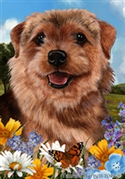 Norwich Terrier Small Decorative Garden Flag