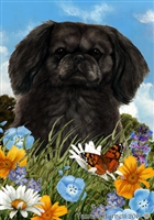 Pekingese Small Decorative Garden Flag