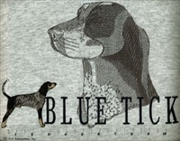 Coonhound Classic Embroidered Tee Shirt or Sweatshirt, Clothing for Dog and Cat Lovers at www.saltypaws.com