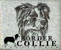 Border Collie Classic Embroidered Tee Shirt or Sweatshirt, Clothing for Dog and Cat Lovers at www.saltypaws.com
